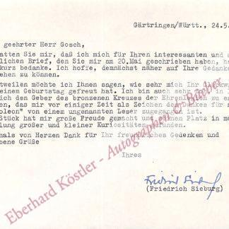 Sieburg, Friedrich, Schriftsteller (1893-1964).