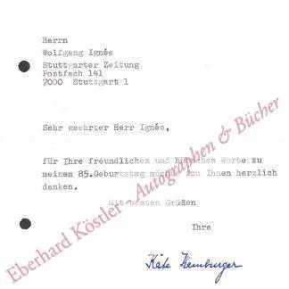 Hamburger, Käte, Literaturwissenschaftlerin (1896-1992).