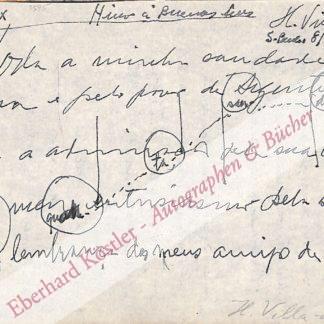 Villa-Lobos, Heitor, Komponist (1887-1959).