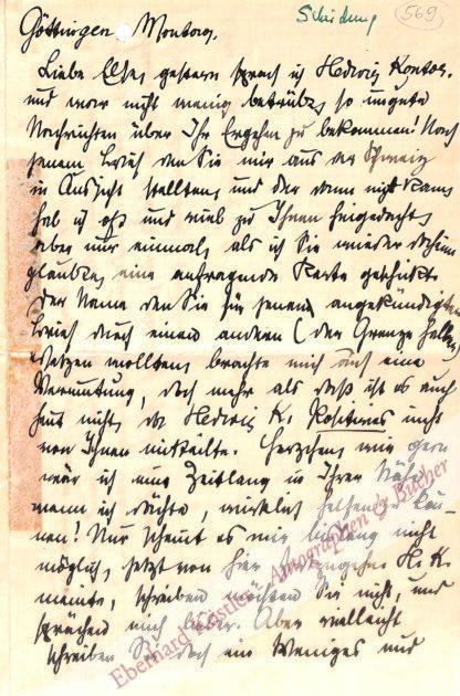 Andreas-Salomé, Lou, Schriftstellerin, Psychoanalytikerin und Muse von Nietzsche, Rilke und Freud (1861-1937).
