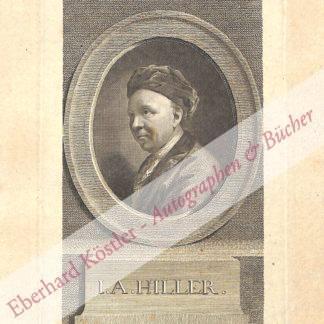 Hiller, Johann Adam, Komponist, Musikschriftsteller und Musikpädagoge (1728-1804).