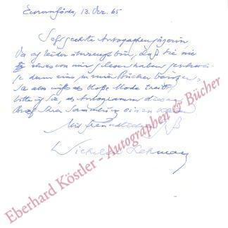 Lehmann, Wilhelm, Schriftsteller (1882-1968).