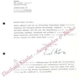 Korn, Karl, Schriftsteller (1908-1991).