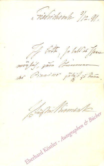 Bismarck, Johanna von, Gattin von Otto von Bismarck (1824-1894).