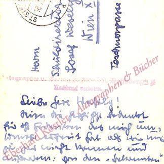 Lavant, Christine, Schriftstellerin (1915-1973).