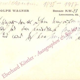 Wagner, Adolf, Nationalökonom (1835-1917).
