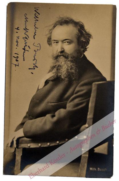 Busch, Wilhelm, Maler, Zeichner und Dichter (1832-1908).