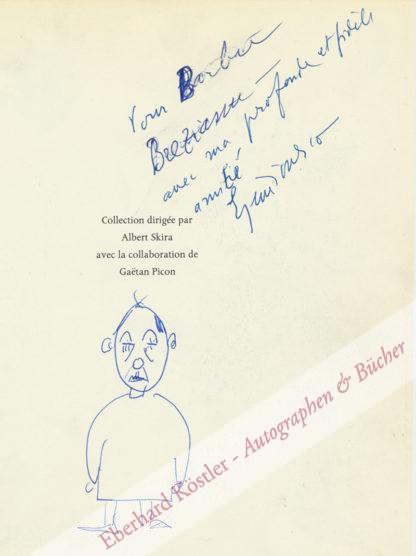 Ionesco, Eugène, Schriftsteller und Maler (1909-1994).