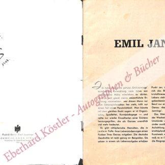 Jannings, Emil, Schauspieler (1884-1950).