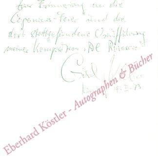 Klebe, Giselher, Komponist (1925-2009).