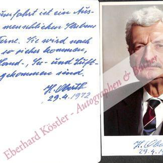 Oberth, Hermann, Raketenpionier (1894-1989).