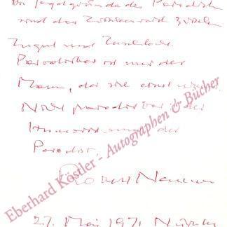 Neumann, Robert, Schriftsteller (1897-1975).