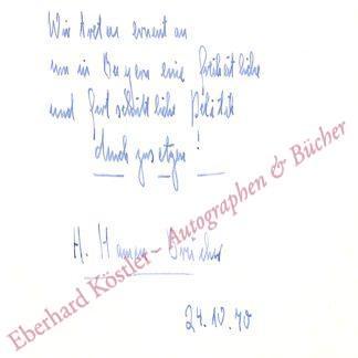 Hamm-Brücher, Hildegard, Politikerin (1921-2016).