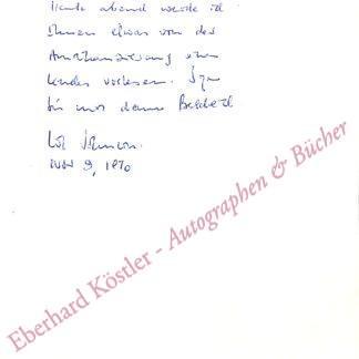 Johnson, Uwe, Schriftsteller (1934-1984).