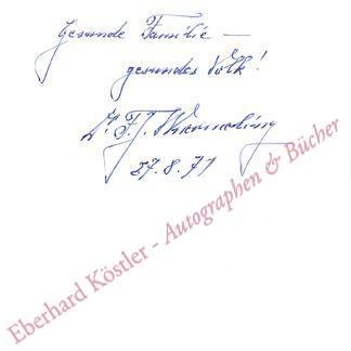 Wuermling, Franz-Josef, Politiker (1900-1986).