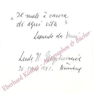 Heydenreich, Ludwig Heinrich, Kunsthistoriker (1903-1978).
