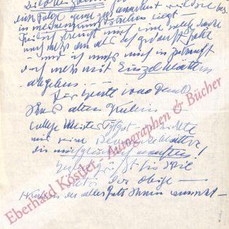 Kubin, Alfred, Graphiker und Schriftsteller (1877-1959).