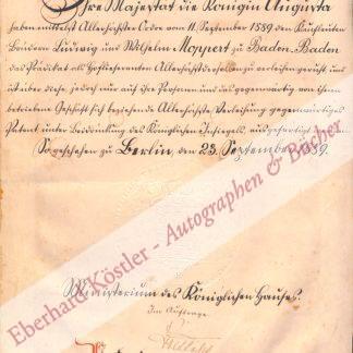 Baden-Baden -  Boetticher, Adolf von, Ministerialdirektor im Ministerium des Königlichen Hauses (1828-1893).