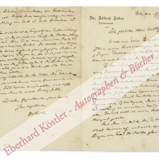 Adler, Alfred, Arzt und Psychotherapeut, Begründer der Individualpsychologie (1870-1937).