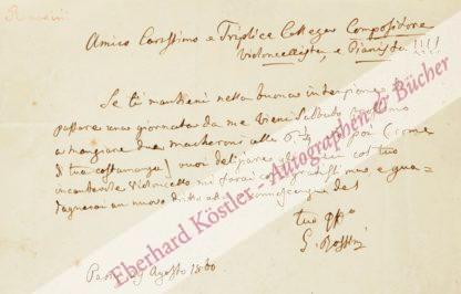 Rossini, Gioacchino, Komponist (1792-1868).