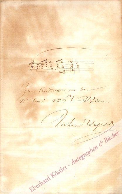 Wagner, Richard, Komponist (1813-1883).