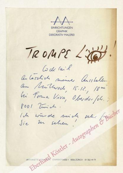Arnim, Antoinette von, Graphikerin und Malerin (nicht ermittelt).