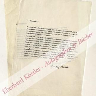 Béalu, Marcel, Schriftsteller (1908-1993).