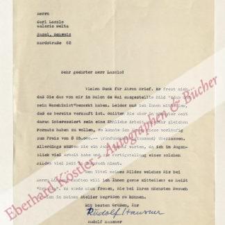Hausner, Rudolf, Maler und Grafiker (1914-1995).