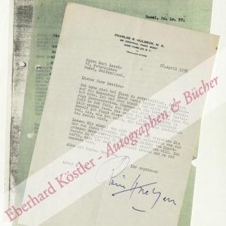 Huelsenbeck, Richard (Charles R. Hulbeck), Schriftsteller und Psychoanalytiker (1892-1974).