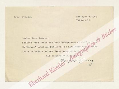Brüning, Peter, Maler und Bildhauer (1929-1970).