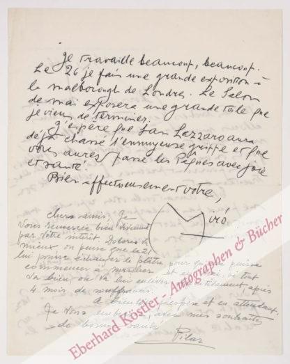 Miró, Joan, Maler (1893-1983).