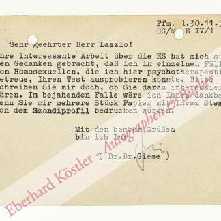 Giese, Hans, Sexualwissenschaftler und Mediziner (1920-1970).