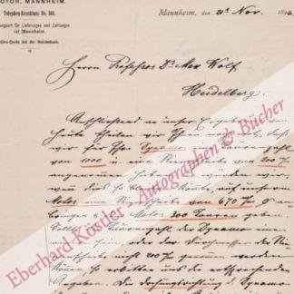 Benz, Carl, Ingenieur, Erfinder des Kraftwagens und Unternehmer (1844-1929).