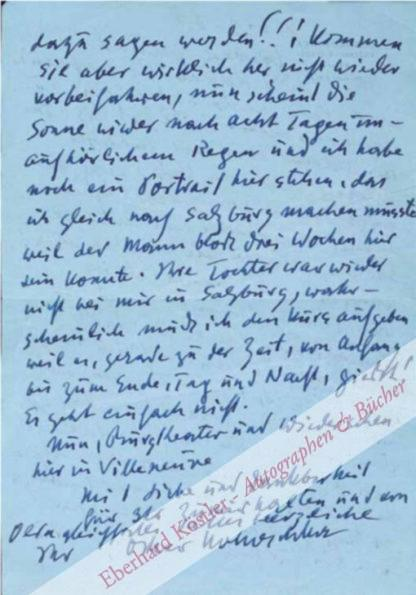 Kokoschka, Oskar, Maler und Graphiker (1886-1980).