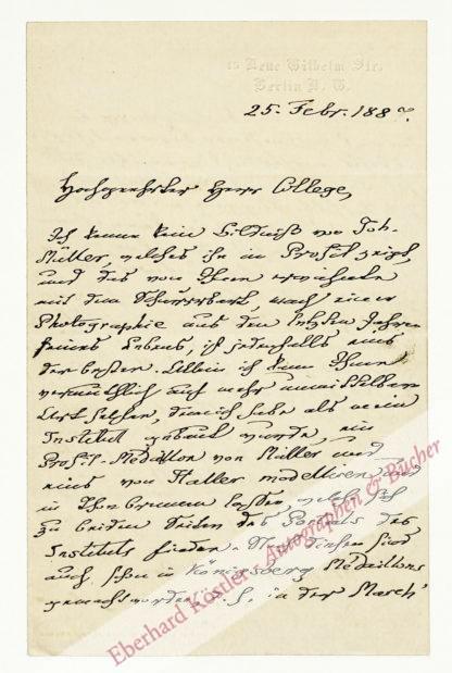 Du Bois-Reymond, Emil, Physiologe (1818-1896).