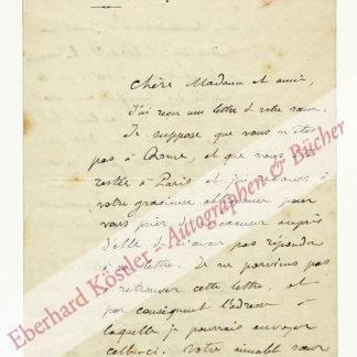 Flammarion, Camille, Astronom und Schriftsteller (1842-1925).