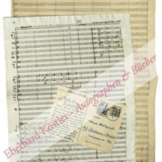Schwarz-Schilling, Reinhard, Komponist (1904-1985).