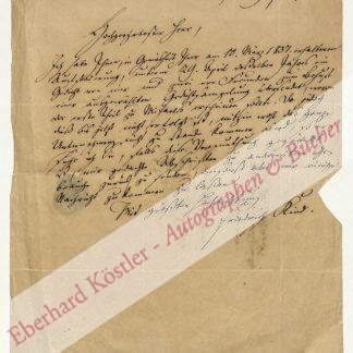 """Kind, Friedrich, Schriftsteller, Textdichter des """"Freischütz"""" (1768-1843)."""