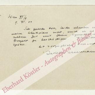 Wassermann, Jakob, Schriftsteller (1873-1934).