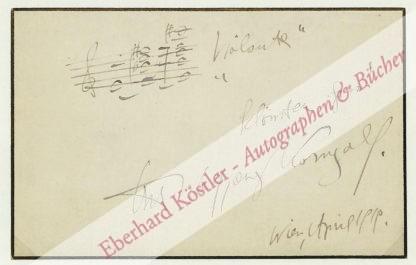 Korngold, Erich Wolfgang, Komponist (1897-1957).