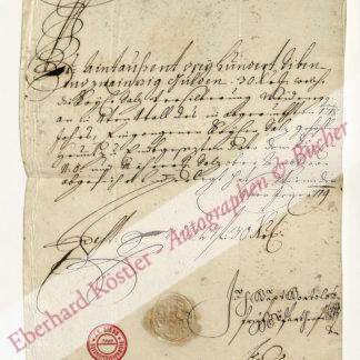 Bartholotti von Partenfeld, Johann Baptist, d. Ä.,, Obersalzamtmann von Niederösterreich (?-1741).