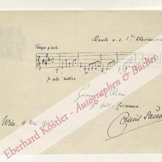 Sauer, Emil von, Pianist und Komponist (1862-1942).