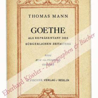Mann, Thomas, Schriftsteller (1875-1955).