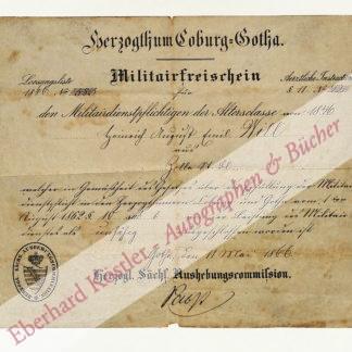 Gotha -  Pabst, [?], Aushebungskommissar (keine Daten).