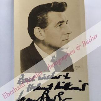 Bernstein, Leonard, Komponist und Dirigent (1918-1990).