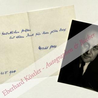 Goes, Albrecht, Schriftsteller (1908-2000).