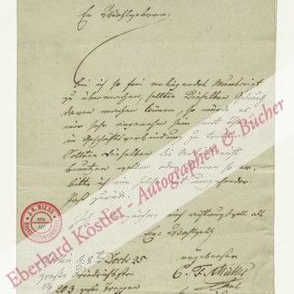 Müller, Carl Friedrich, Komponist und Kapellmeister (1796-1846).