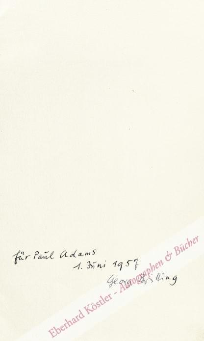 Britting, Georg, Schriftsteller (1891-1964).