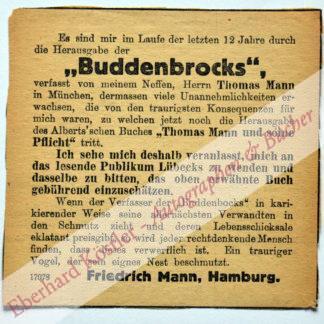 Mann, Friedrich, Onkel Thomas Manns (1947-1926).