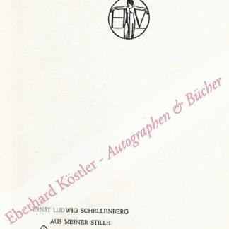 Schellenberg, Ernst Ludwig, Schriftsteller (1883-1964).